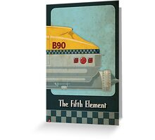 Korben Dallas' Flying Taxi, The Fifth Element 3 of 3 Greeting Card