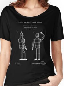 Robot Patent - Black Women's Relaxed Fit T-Shirt