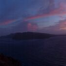 Santorini Sunset panoramic by AHigginsPhoto