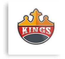King Crown Kings Retro Metal Print