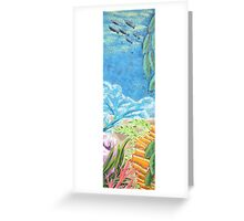 Feathering Colors Greeting Card