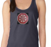 flower life red disk love Women's Tank Top