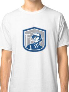 Power Lineman Repairman Shield Retro Classic T-Shirt
