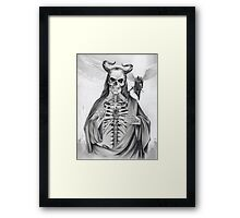 Jesus and the Angel of Death Framed Print