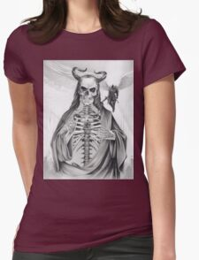 Jesus and the Angel of Death Womens Fitted T-Shirt