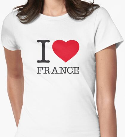 I ♥ FRANCE Womens Fitted T-Shirt