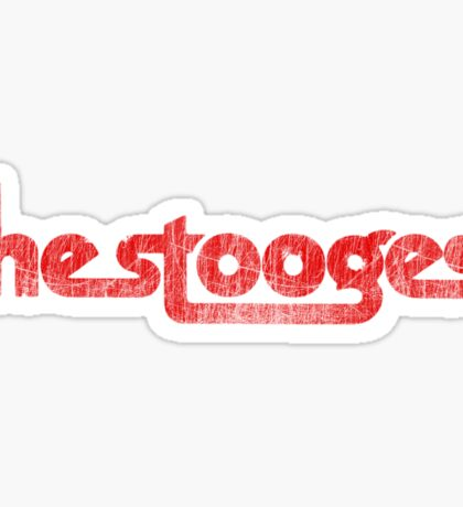 The Stooges (red - distressed) Sticker