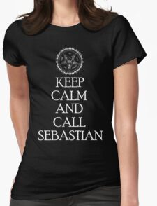Keep Calm And Call Sebastian - White Womens Fitted T-Shirt