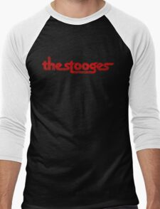 The Stooges (red - distressed) Men's Baseball ¾ T-Shirt