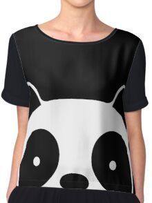 Cute Panda Chiffon Top