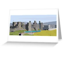 Conwy in Full Bloom Greeting Card