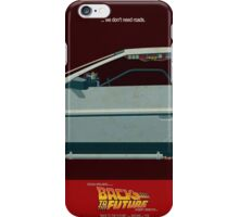 DeLorean Time Machine, Back to the Future Version 3 II/III iPhone Case/Skin