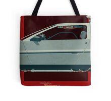 DeLorean Time Machine, Back to the Future Version 3 II/III Tote Bag