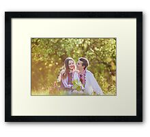 Happy loving couple Framed Print