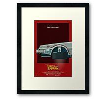 DeLorean Time Machine, Back to the Future Version 3 I/III Framed Print