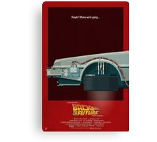 DeLorean Time Machine, Back to the Future Version 3 I/III Canvas Print