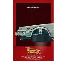 DeLorean Time Machine, Back to the Future Version 3 I/III Photographic Print