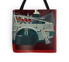 DeLorean Time Machine, Back to the Future Version 3 III/III Tote Bag