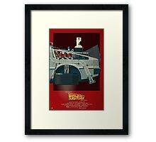 DeLorean Time Machine, Back to the Future Version 3 III/III Framed Print