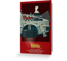 DeLorean Time Machine, Back to the Future Version 3 III/III Greeting Card