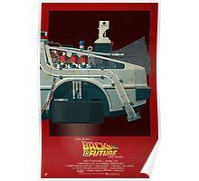 DeLorean Time Machine, Back to the Future Version 3 III/III Poster