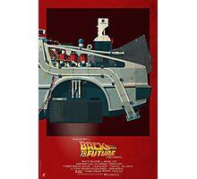 DeLorean Time Machine, Back to the Future Version 3 III/III Photographic Print