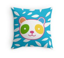 Rainbow Panda Throw Pillow