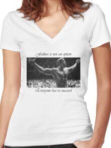 Arnold motivation Women's Fitted V-Neck T-Shirt