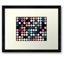 The Lights on Broadway Framed Print