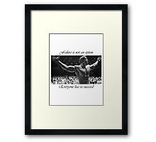 Arnold motivation Framed Print