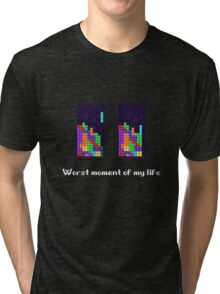 Tetris ruins my life. Tri-blend T-Shirt