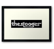 The Stooges (white - distressed) Framed Print
