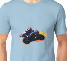 Motorcycle racer on the move Unisex T-Shirt