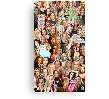 Gillian Anderson collage Canvas Print