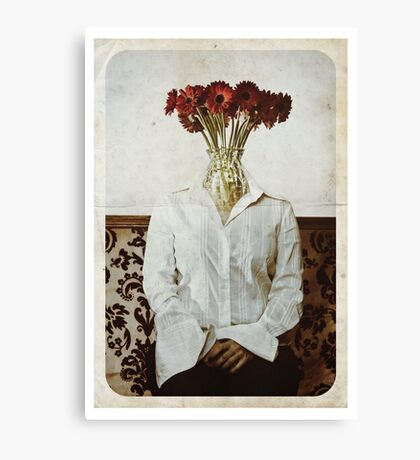 Still Life with The Faceless Woman Canvas Print