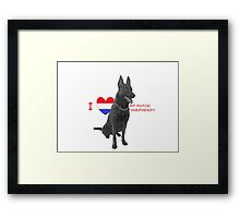 I love Dutch Shepherd Framed Print