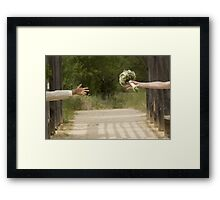Hands married Framed Print