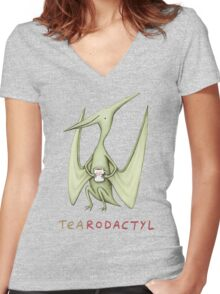 Tearodactyl Women's Fitted V-Neck T-Shirt