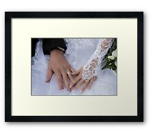 ceremony wedding day Framed Print