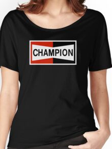 CHAMPION SPARK PLUG RACING CAR Women's Relaxed Fit T-Shirt