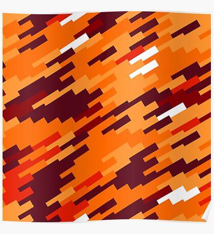 Brown orange shapes Poster