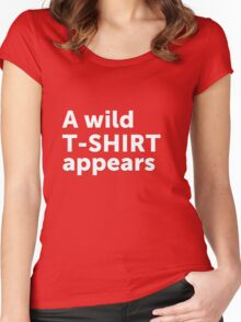 A wild t-shirt appears Women's Fitted Scoop T-Shirt