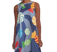 Rainbow Sugar Crush A-Line Dress