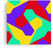 Colorful misc shapes Canvas Print