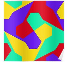 Colorful misc shapes Poster
