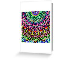 Colorful Concentric Abstract Greeting Card