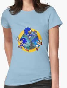 3 Shades of Sonic Womens Fitted T-Shirt