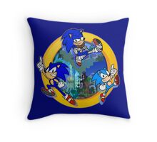 3 Shades of Sonic Throw Pillow