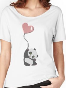 Panda And Balloon Women's Relaxed Fit T-Shirt