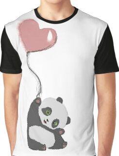 Panda And Balloon Graphic T-Shirt